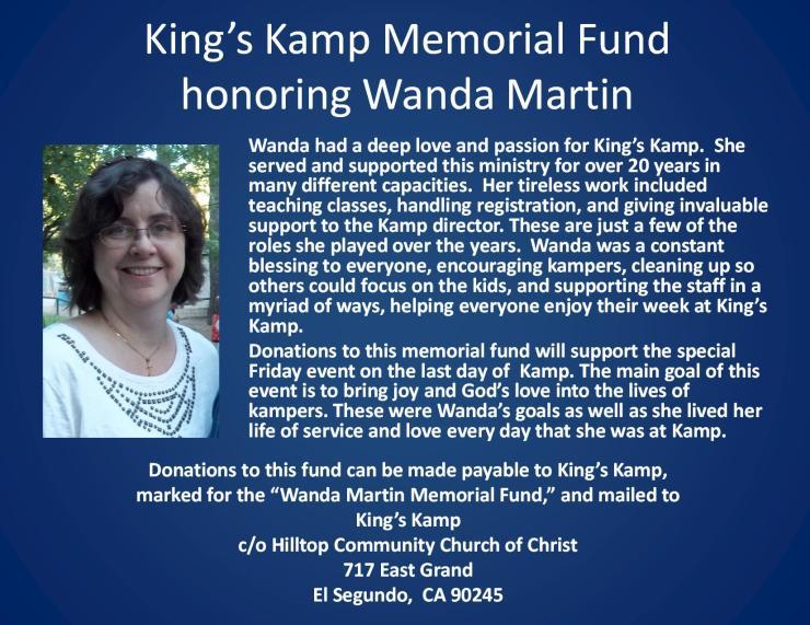 Wanda Martin Memorial Fund